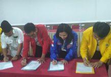 pimpinan partai politik saat membentuk koalisi Anakpinang