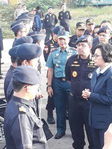 Menteri Keuangan (Menkeu) Srimulyani melakukan lawatan kerja ke Kanwil Bea dan Cukai Khusus Kepri, Jumat (8/9) di Tanjung Balai Karimun (TBK), Kabupaten Karimun.