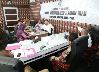Panlih Wagub Kepri saat menggelar rapat internal, pada Selasa (26/9), di DPRD Kepri, Dompak, Tanjungpinang