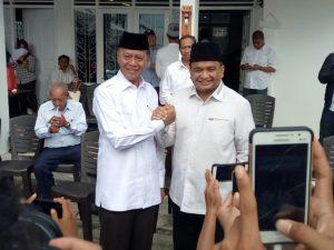 Syahrul dan Ade Angga di acara deklarasi Syahrul sebagai calon Walikota Tanjungpinang 2018-2023