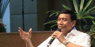 Menko Polhukam Wiranto saat memberikan keterangan pers (dok: kemenko polhukam)