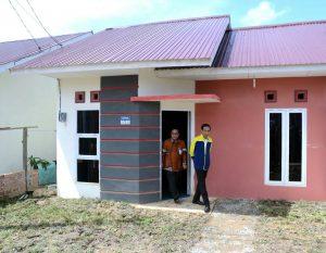 Presiden Jokowi mengunjungi pembangunan rumah subsidi