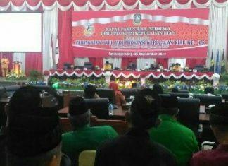 Rapat paripurna DPRD Kepri, dalam rang Hari Jadi Provinsi Kepri Ke-15