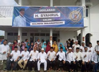 Deklarasi Syahrul sebagai calon Walikota Tanjungpinang