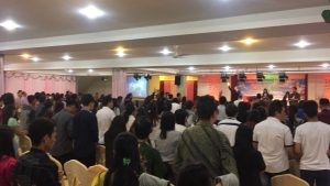 Para jemaat dalam perayaan 21 Tahun FKAG