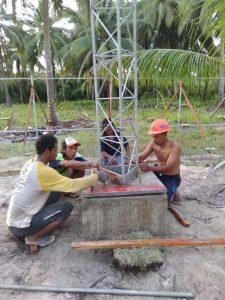 Pembangunan Tower Telekomunikasi di Natuna (1)