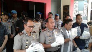 kata Kapolres Tanjungpinang AKBP Ardiyanto Tedjo Baskoro (tengah), saat konfrensi pers