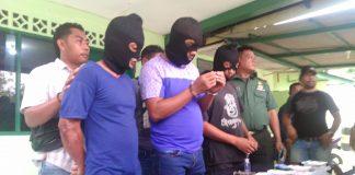 Tiga orang pelaku yang ditangkap terkait kepemilikan narkoba