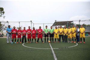 Skuad Tim Futsal Kepala OPD Kota Tanjungpinang dan Tim BPJS Ketenagakerjaan