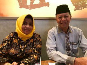 Syahrul (kanan) bersama Rahma (kiri)
