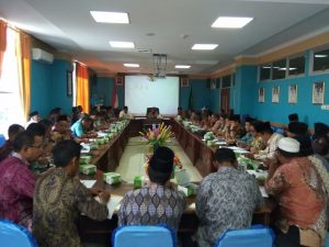 rapat persiapan penyelenggaraan Musabaqoh Tilawatil Quran (MTQ) kabupaten Natuna tahun 2018.