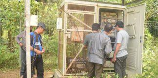 Radio IPLH Telkom di Subi sedang perbaikan