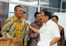Menteri Sofyan Djalil dan Bupati Apri Sujadi