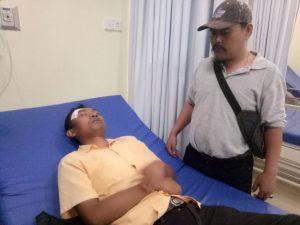 Rindu Sianipar ditemani Pemred Fajar Kepri di RSUD Tanjungpinang