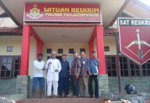 Pengurus Yayasan YKKBI usai membuat laporan polisi di Sat Reskrim Polres Tanjungpinang