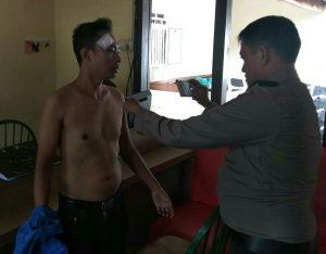 Rindu Sianipar saat melapor di Polsek Bestari, Polres Tanjungpinang