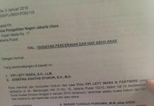 Surat gugatan cerai yang beredar di medsos (sumber kumparan.com)