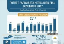 Statistik kunjungan wisman ke Provinsi Kepri