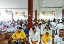 Dari kiri: Ade Angga bersama Paslon Syahrul-Rahma saat deklarasi Paslon, beberapa waktu lalu