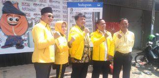Ade Angga dan pengurus partai Golkar Tanjungpinang