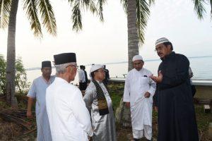 Gubernur Nurdin saat safari subuh di Pulau Penyengat