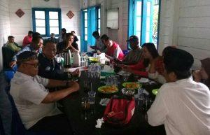 Rapat koordinasi persiapan acara coffee morning dalam diskusi publik mengevaluasi kinerja Gubernur Kepri Nurdin Basirun selama 2,5 tahun ini