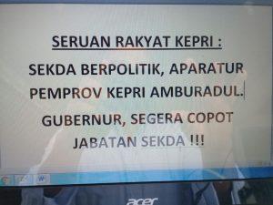 Seruan keprihatinan terkait kondisi Provinsi Kepri dalam dua tahun terakhir ini