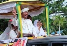 Paslon Syahrul-Rahma dalam pawai Pilkada Damai