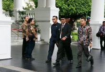 Bupati Bintan Apri Sujadi di Istana Negara, dalam menghadiri rapat kerja pemerintah