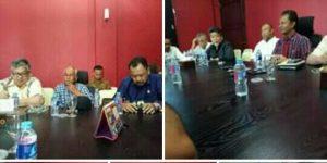 Para pimpinan DPRD Kepri saat konprensi pers terkait pengguliran Hak Interpelasi kepada Gubernur Kepri