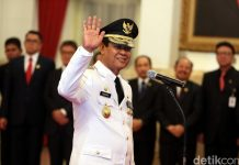 Isdianto saat dilantik sebagai Wagub Kepri oleh Presiden Jokowi