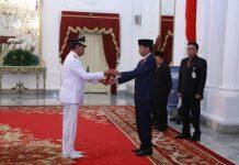 Pelantikan Wagub Kepri Isdianto di Istana Negara (ft humpro kepri)
