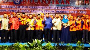 Usai dilantik, Pengurus Perkit Kota Tanjungpinang (2018-2022) foto brsama Gubernur dan Wakil Gubernur Kepri serta Pj. Wali Kota Tanjungpinang dan para undangan lainnya.