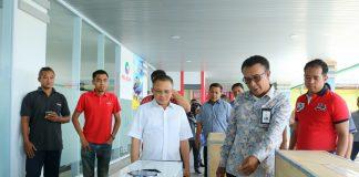 Dirut PT Pelindo I Cabang Medan Bambang Eka Cahyana saat berkunjung ke PT. Pelindo Tanjungpinang