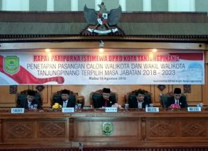 Rapat Paripurna Istimewa Penetapan Walikota dan Wakil Walikota Tanjungpinang Terpilih 2018-2023