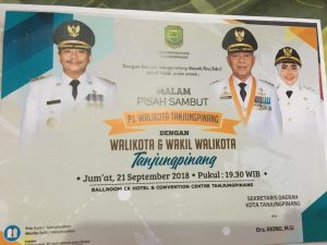 Undangan Malam Pisah Sambut Pj. Walikota Tanjungpinahg dengan Walikota dan Wakil Walikota Tanjungpinang