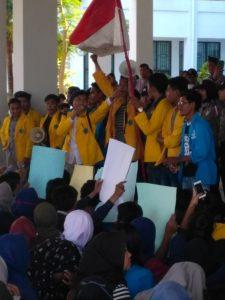 Aksi demo forum BEM Tanjungpinang - Bintan