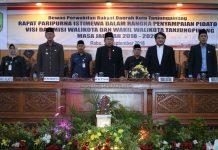 Rapat paripurna penyampaian Visi - Misi Walikota Tanjungpinang 2018-2023
