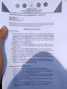 Salinan tuntutan Forum BEM Tanjungpinang - Bintan