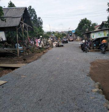 Kondisi jalan di Kampung Galang, Tanjungpinang setelah perbaikan