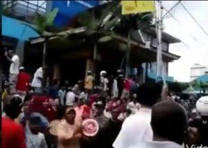 Massa menguasai kantor PLN Tanjungpinang