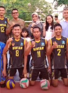 Bupati Apri bersama atlet Bintan di Porprov Kepri