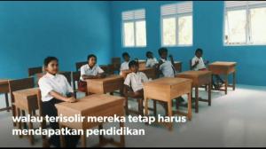 Ruang kelas permanen setelah direnovasi