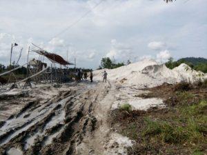 Inilah areal tambang timah Ilegal di Kabupaten Bintan yang pernah ditutup karena tak berizin