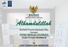 pengharagaan opini sesuai syariah peringkat akreditas B