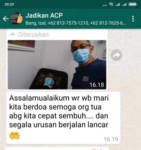 Andi Cori sedang merawat ayahanda di johor-malaysia