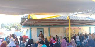 Ade Angga dihadapan warga saat penyampaian program sebagai caleg DPRD Tanjungpinang