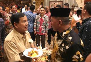 Prabowo Subianto bersama Syahrul dalam sebuah acara di Jakarta