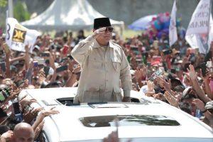 Penyambutan kedatangan Capres Prabowo di Batam