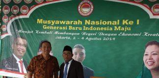 Sekjen Generasi Baru Indonesia Maju (GBIM), Moh Kholil al Faruq, SH, M.Pdi, bersama Penggagas GBIM dari Kota Tanjungpinang, Simon Awantoko